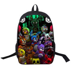 Five Nights Freddys Backpack For Teen Bonnie Fazbear Foxy Freddy Chica Backpack Boys Girls School Bags Kids Bags Daily Backpacks