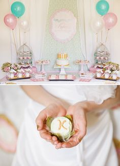 mother's day cake pop ideas | Elegant Shabby Chic Baptism Dessert Social // Hostess with the Mostess ...