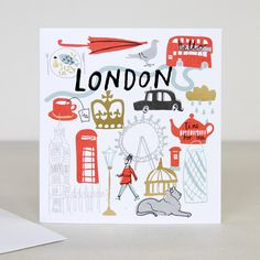 You Are Here - London Travel Greeting Card | Caroline Gardner