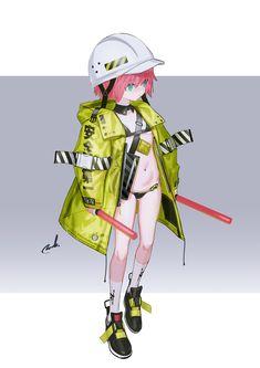 """れおえん * COMITIA ら69a on Twitter: """"×Tech… """" Game Character Design, Character Design Inspiration, Character Concept, Character Art, Concept Art, Cyberpunk Anime, Cyberpunk Character, Manga Illustration, Character Illustration"""