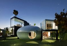 Cocoon house at South Korean island