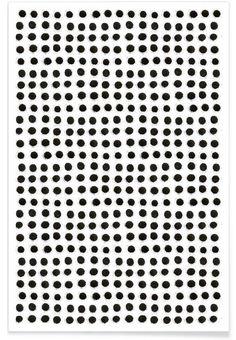 JUNIQE Ink Dots Maren Lösing - Premium Poster