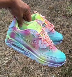 5a8a1ce79dd Sneakers - Women s Fashion   Nike Air max 90 pastel splash customs Unisex.  by JKLcustoms.