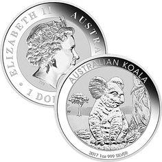 1 Unze Silber Koala 2017 - 1 $ Australien 1 Oz 999 Silbermünze Feinsilber - NEU!sparen25.com , sparen25.de , sparen25.info