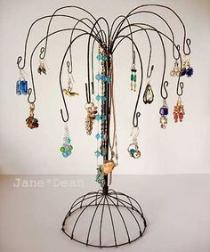 Buy Jewelry Tree Displays And Other Jewelry Displays. Gold And Sterling Silver Cat Pendant . Tree Jewelry Holder, Jewelry Tree Stand, Jewelry Hanger, Wire Jewelry, Beach Jewelry, Silver Jewelry, Necklace Holder, Silver Earrings, Silver Ring