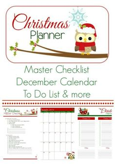 Christmas Planner Series ~ Master Checklist & More | Krafty Cards etc