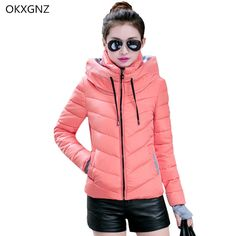 23.24$  Watch here - http://ali0i6.shopchina.info/go.php?t=32800419311 - OKXGNZ Women costume Winter Jackets And Coats 2017 Womens Hooded Thick Warm Short Cotton Jacket Coat Plus Size Women Basic Coats 23.24$ #buychinaproducts