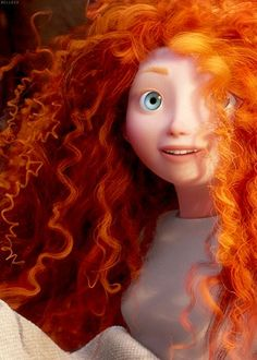 "Merida wakes up excited for her next day off free of ""how to be a proper Scottis. - Merida wakes up excited for her next day off free of ""how to be a proper Scottish Princess"" lessons… lol Merida Disney, Brave Merida, Brave Disney, Merida Hair, Brave Pixar, Brave Movie, Disney Magic, Disney Art, Disney Movies"