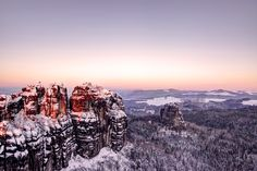 Winter in the Saxon Switzerland (Germany)