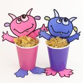 """Read your students """"Where the Wild Things Are"""" and then have them make these cute """"Monster Treat Cups""""  that could be used for storing Halloween candy or as a pencil cup."""