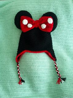 Another Minnie Mouse Crochet Beanie :)