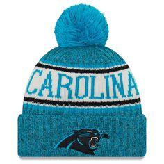 17c11445f65 Men s Carolina Panthers New Era Blue 2018 NFL Sideline Cold Weather  Official Sport Knit Hat