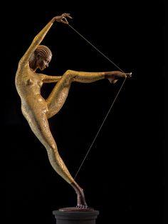 Con Amore, Skulptur, Plastik aus Bronze, von Malgorzata Chodakowska