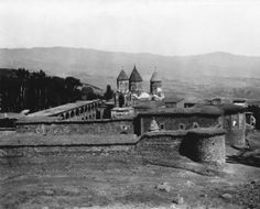 Surb Karapet Monastery-before its destruction in 1915. The monastery subsequently served as a stronghold of the Mamikonians—the princely house of Taron, who claimed to be the holy warriors of John the Baptist, their patron saint. It was expanded and renovated many times in later centuries. By the 20th century it was a large fort-like enclosure with four chapels. p3