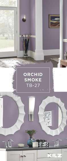 How will you use KILZ Tribute Paint & Primer In One in Orchid Smoke in the interior design of your home? This violet hue has gray and purple undertones, making it a classic pop of color for a range of decor styles. Use neutral white accents and light wood furniture to recreate this look in your own house.