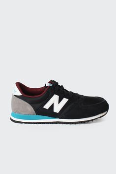 GOOD AS GOLD — NEW BALANCE 420 Sneakers (U420NGR), black/white/teal  http://www.goodasgold.co.nz/collections/new-balance