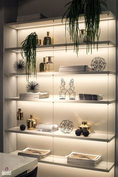 that under shelf lighting makes all the difference for the home rh pinterest com