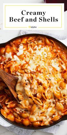 Casserole Recipes, Pasta Recipes, Cooking Recipes, Healthy Recipes, Healthy Meals, Dinner Entrees, Dinner Recipes, Fettucine Alfredo, Stuffed Shells Recipe