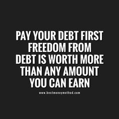 Your ticket to debt freedom – Finance tips, saving money, budgeting planner Financial Quotes, Financial Peace, Financial Tips, Saving Quotes, Money Quotes, Quotes Quotes, Budgeting Money, Debt Payoff, Debt Free