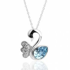 AEKK 18KGP Gold Plated Fashion Blue Swan  Austrain Crystal Necklace'  Adjustable Ring,Blackfriday big sale:save 40% off & free gift.Promo time:Nov.23--Nov.30.Share with facebook,pinterest or twitter,enter AEKK5 at checkout to save $5.Click here at www.aekk.com for details.Great amzings are waiting for you.Hurry up!!