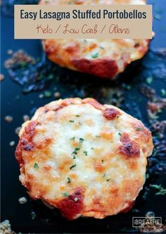 Easy Keto Lasagna Stuffed Portobellos the whole family will love! Low carb and gluten free!