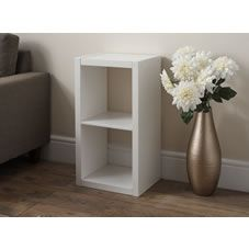 Wilko Oslo 2 Tier Unit White