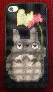cross stitched totoro iPhone case