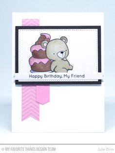 Beary Special Birthday Stamp Set, Blueprints 18 Die-namics, Blueprints 30 Die-namics, Fishtail Flags Layers STAX Die-namics, Stitched Rectangle STAX Die-namics, Rectangle STAX Set 1 Die-namics - Julie Dinn  #mftstamps
