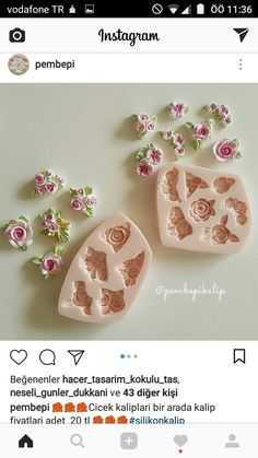 Diy Craft Projects, Diy And Crafts, Baby Girl 1st Birthday, Clay Figurine, Candle Molds, Soap Packaging, Glass Flowers, Home Made Soap, Clay Charms