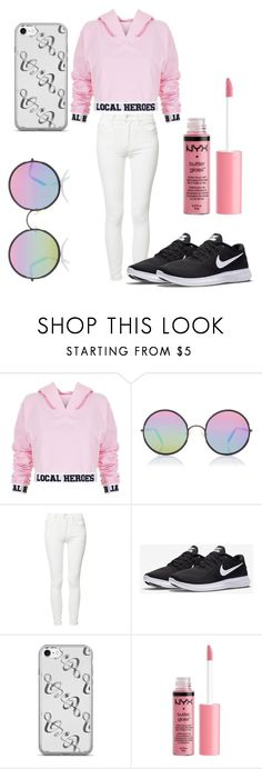 """""""🙆🙆🙆"""" by jackiebujanda on Polyvore featuring Local Heroes, Sunday Somewhere, Mother, NIKE and Charlotte Russe"""