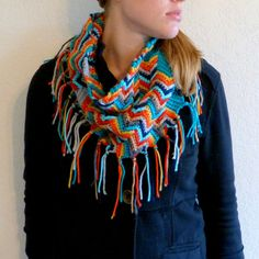Apache Tears Pattterned Crochet Cowl Scarf by FromMyNeedle on Etsy