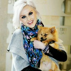 Photo of Perrie Edwards & her Dog