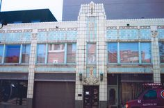CHECK out this art deco! sweeeeeet! Local history: This is the side of the Coronado that housed the former Jackson's Piano store. before that there was Dawn's Dress shop...check out my other pics because I have a mannequin from that same dress shop. Enjoy....all that is....terra cotta....art deco =)