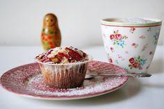 erleperle: rabarber muffins