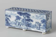 One of a pair of Delft faience flower holders, c. 1690 - 1700. Rijks Museum collection, Netherlands.