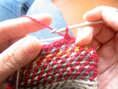 Crochet Codex: The Choreography of Crochet Jacquard. Great step by step photos #crochet #jacquard #diycrochet