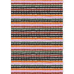 Marimekko fabrics - Buy online from Finnish Design Shop. Discover Unikko and other Marimekko fabrics for a modern home! Marimekko Fabric, Types Of Curtains, Orange Fabric, Rod Pocket Curtains, Coordinating Fabrics, Fabric Swatches, Green Cotton, Fabric Online, Fabric Patterns
