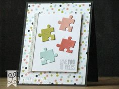Lil' Inker Designs- Puzzle Pieces Die Set, Piece of Me Stamp Set, Stitched Mats: Rectangles