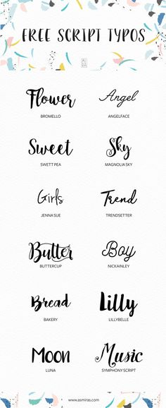 Free Script Fonts selected by Mirá