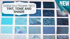 How do you choose colors for your #quilts? In part 2 of the quilting color principles, learn the many factors that play in tint, tone and shade. http://www.nationalquilterscircle.com/article/quilting-color-principles-part-2-tint-tone-and-shade/?utm_source=pinterest&utm_medium=organic&utm_campaign=A228 #LetsQuilt