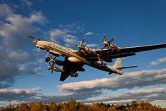 Tupolev Tu-95 Bears…Image #2: A Tu-95 climbing from take-off