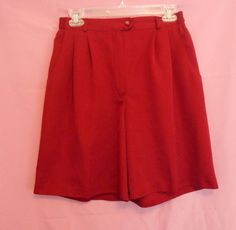 Coral Bay Golf Burgundy Shorts Size 6 Pleat Front Side Elastic Loops Poly #CoralBayGolf #DressShorts