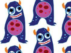 "Grafika z katalogu ""Dla dzieci"" - Monster :)  http://cottonbee.pl/tkaniny/dla-dzieci/5406-monster.html #dzieci #kids #children #monster"