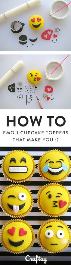 What better way to celebrate than with emoji cupcakes? These expressive treats are the perfect way to set the mood at your next celebration.