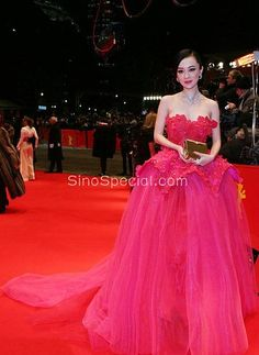 fantastic fuchsia strapless applique tulle ball gown celebrity dress