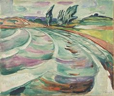 "«Bølgene» (""The Waves"") painting by Edvard Munch, 1931."