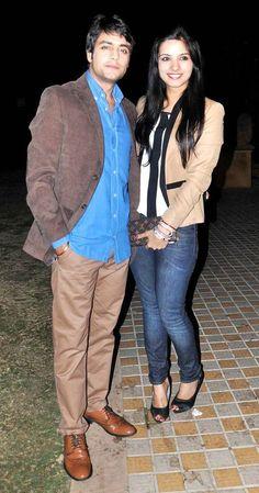 Gaurav Bajaj and Sakshi Shhorwani at the launch of the GR8 Calendar 2014. #Style #Bollywood #Fashion #Beauty