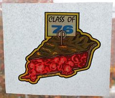 "Vintage IRON ON TRANSFER For T-Shirts: ""Class Of 76"" w/ CHERRY PIE ...Old Store Stock by MADsLucky13"