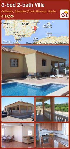 3-bed 2-bath Villa in Orihuela, Alicante (Costa Blanca), Spain ►€199,000 #PropertyForSaleInSpain