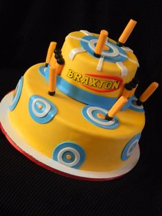 Nerf Cake - Cake for a nerf themed party.